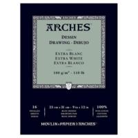 Arches Eskiz Defter - Extra White - 180Gr. - 23X31Cm