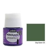 Pebeo Porcelaine 150 Porselen Boyası 45Ml - Clay Green 25