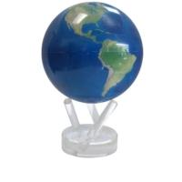 Mova Globe Işıkla Dönen Dünya Küresi Uzaydan Görüntü Doğal 12cm