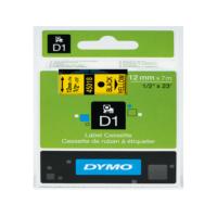 Dymo D1 Şerit S0720580 12-7Mt Sarı-Siyah 45018