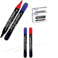 Aihao Permanent Kalem Çift Taraflı Kırmızı-Siyah