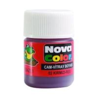 Nova Color Su Bazlı Cam Boya Şişe Kırmızı