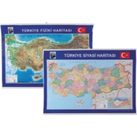 Gülpaş Harita Türkiye Fiziki Ve Siyasi 70-100
