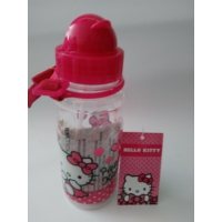 Hello Kitty Şeffaf Plastik Matara Suluk 78693