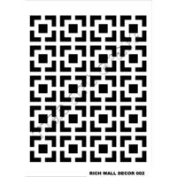 Rich Duvar Stencilı 50X70Cm - 02