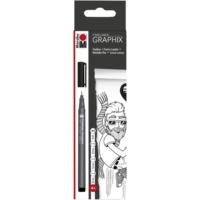 Marabu Fineliner Graphix 4'Lü Kalem Seti - Siyah