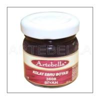 Artebella 3608 Siyah Kolay Ebru Boyası 40Cc