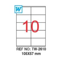 Tanex TW-2610 Lazer Etiket 105X57mm 1000 Adet Etiket