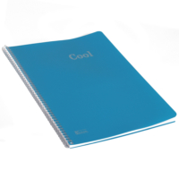 Keskin Color A4 72 Yp.Çizgili Plastik Kp.Spiralli Cool Defter - Mavi