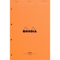 Rhodia Basics A4 Zımbalı Turuncu Çizgili Defter Ra 119660