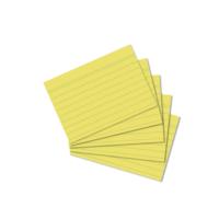 Herlitz A7 100' Lü Çizgili Sarı Kartotek