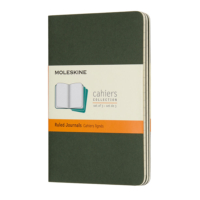 Moleskine Cahier 3'lü Cep Boy Karton Kapak Defter Yeşil