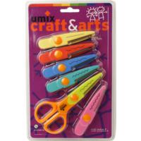 "Umix Craft&Arts Sekilgeç Makas 5,25"" - (5 Yedekli Blister)"
