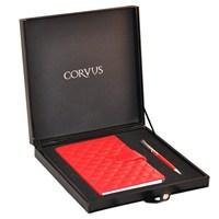 Corvus 2'Li Set / Deri Defter Ve Tükenmez Kalem