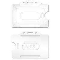 Mas 3520 Plastik Kart Muhafaza - Yatay-54X86-Beyaz 50 Li