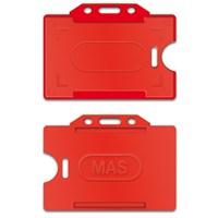 Mas 3520 Plastik Kart Muhafaza - Yatay-54X86-Kırmızı 50 Li
