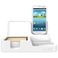 Mas 6608 Desk Organızer-Galaxy Charger Beyaz,