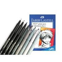 Faber-Castell 167107 Pitt Çizim Kalemi Manga 8'Li