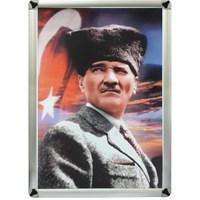 Akyazı 35x50 Atatürk Posteri-4 (Metal Çerçeve)