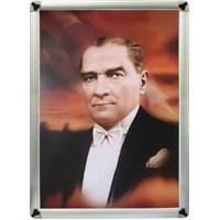 Akyazı 35x50 Atatürk Posteri-5 (Metal Çerçeve)