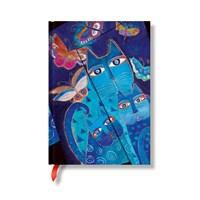 Paperblanks 3-466-1 Lbc Blue Cats Midi-Düz ( Midi – 120 x 170 mm. 160 Sf)