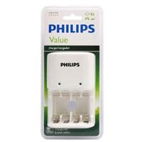 Philips SCB1411WB/12 200mAh AA/AAA 4 LÜ Şarj Cihazı, Beyaz