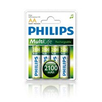 Philips R6B4A210/97 AA 4'lü 2.100 mah Şarjlı Kalem Pil