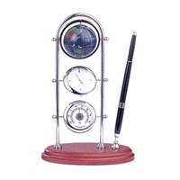 Proteks S-0382 Hediyelik Masa Seti Küre,Saat ve Pusulalı