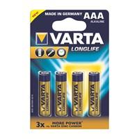Varta Longlife Extra Ekonomik Alkalin Seri İnce Pil - AAA 4'lü 4103101414