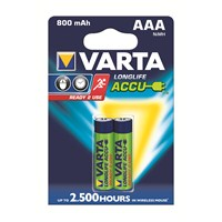 Varta Longlife Accu Ready 2 Use İnce Pil - AAA 800 mAh 2'li 56703101402