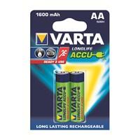 Varta Longlife Accu Ready 2 Use İnce Pil - AA 1.600 mAh 2'li 56716101402