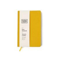 Leather&Paper 9X14 Sarı Çuval Baskı Deri Defter