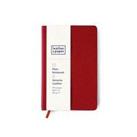 Leather&Paper 9X14 Kırmızı Flotter Deri Defter