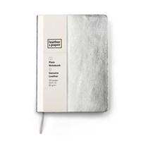Leather&Paper 12X17 Gümüş Deri Defter