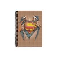 Mynote Superman Kraft Defter A4 100 Yp. Çizgili SM1001-Ç