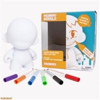 """Kidrobot Munny World 7"""" (Tekrar Kullanılabilir 6 Marker Kalem İle)"""