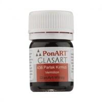 Ponart Glass Art 20 Ml Parlak Kırmızı Cam Boyası - 436
