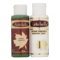 Artebella Örümcek Çatlatma Çimen Yeşili 70 Cc Medium + 70 Cc Vernik - 3267