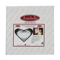 Artebella Sizde Yapabilirsiniz Seti Siyah Güller Polyester Kalpli Tepsi - Sy027
