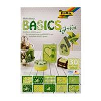 Folia Yeşil Motif Dekoratif Karton