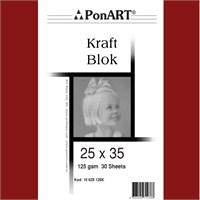 Ponart Kraft Defter 25x35 125 gr 30 Yaprak (10 628 126K)
