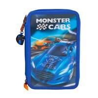 Monster Cars 3 Katlı Dolu Kalem Kutu 8971