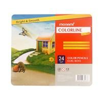 Monami Color-Line Kuru Boya 24 Renk (Metal Kutu) Mkb110024m