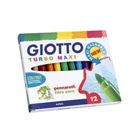 Giotto Turbo Maxi Keçeli Kalem 12'Li Kutu 454000