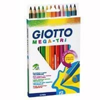 Giotto Mega Tri Kuru Boya Kalemi Asklılı Paket 12'Li 220600