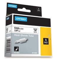 Dymo Rhinopro Isıyla Küçülen Serit 6Mmx1,5M Beyaz/Siyah18051