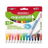 Fibracolor Aquarell 12 Renk Keçeli Kalem 10550