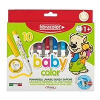 Fibracolor Baby Color 10 Renk Keçeli Kalem +1 Yaş 10540