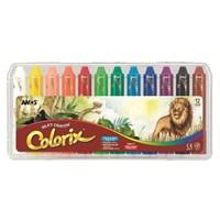 Amos Colorix Üçü Birarada Boya Plastik Kutu 12'Li Crx5Pc12