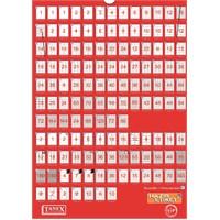 Tanex TW-2117 118x37 mm Laser Etiket 100 Ad.